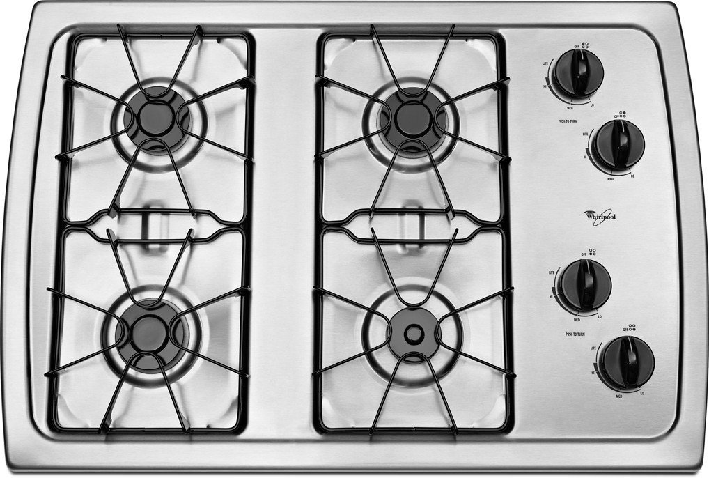 "Stainless Steel W3CG3014XS 30"" Whirlpool Gas Cooktop"