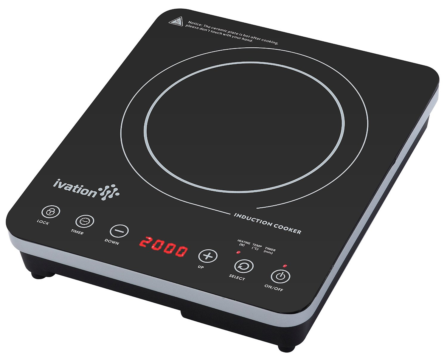 Portable 1800 Watt Induction Countertop Cooktop Burner by Ivation ...