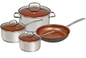 NuWave Cookware Set- Silver-7 Piece