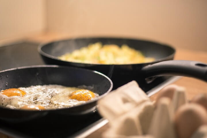 Cooking food on induction