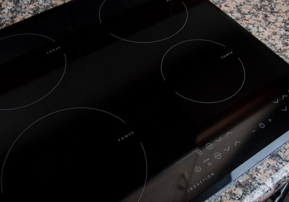 Induction cooktop surface